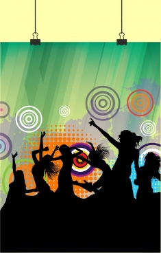 active performers background silhouette grungy design