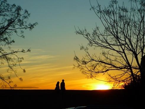 adarve wall sunset
