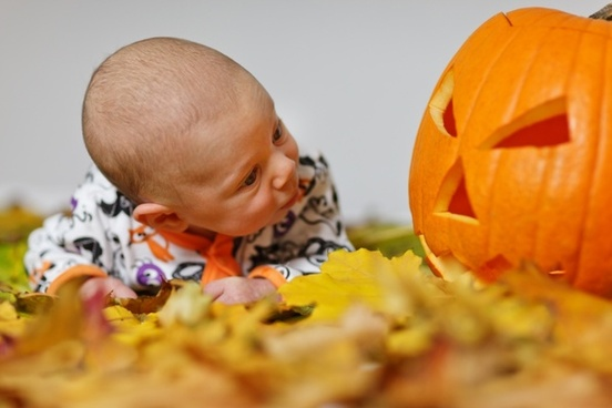 adorable autumn baby