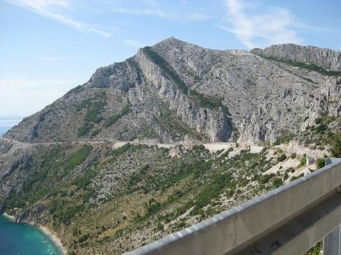 adriatic sea croatia mountain