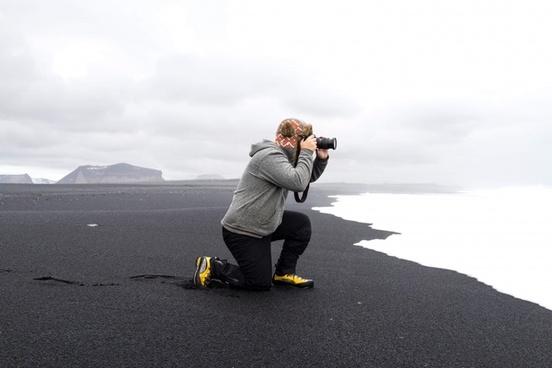 adult beach grey landscape love man men mountain