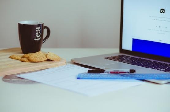 adult book business computer desk document furniture
