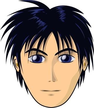 Adult Person Anime Cartoon Head clip art