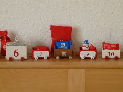 advent calendar train gifts