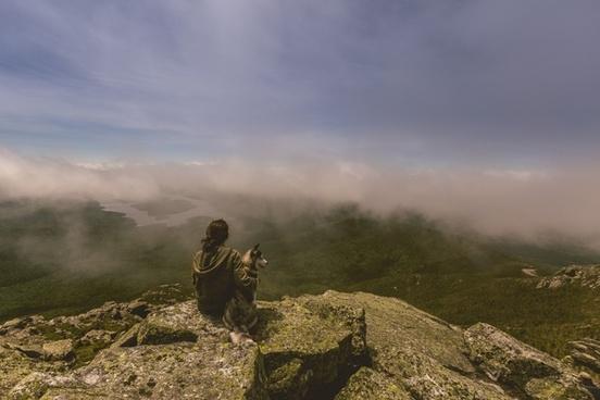 adventure alone autumn cloud fall fog forest hiking