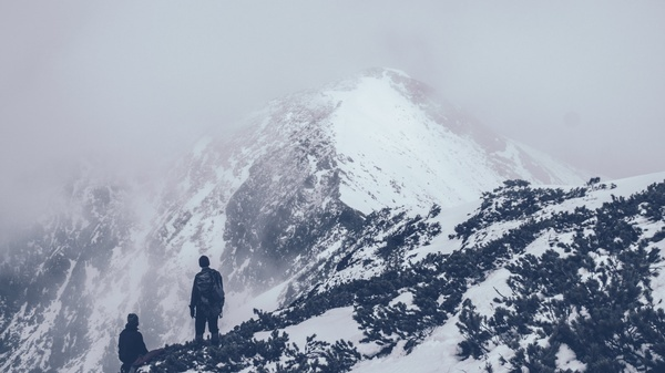adventure alps climbing cold frozen glacier high