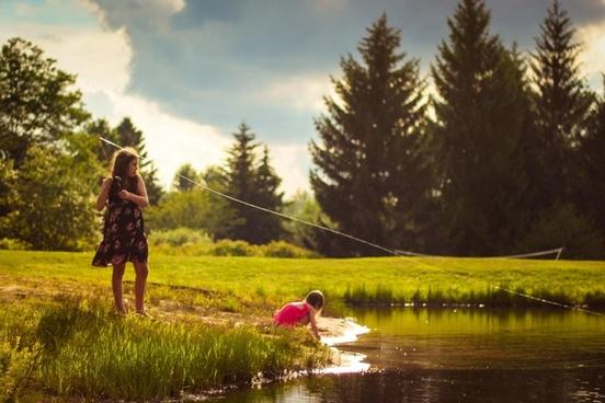 adventure autumn daytime evergreen forest grass lake