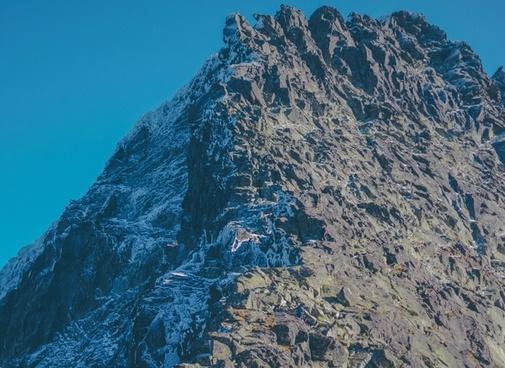 adventure climbing cold frozen glacier high hill