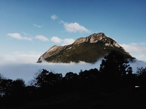 adventure cloud daytime eruption hill landscape
