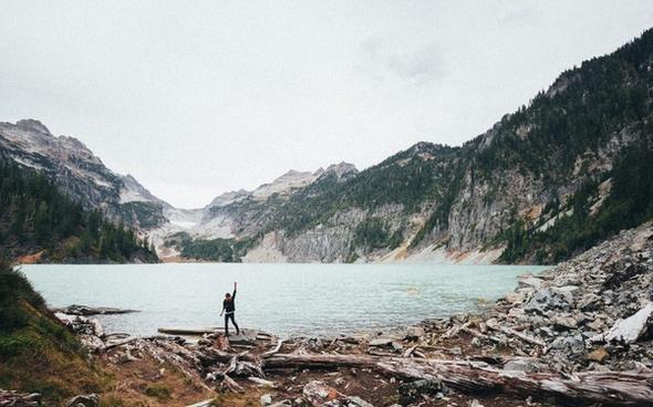 adventure daytime environment forest lake landscape