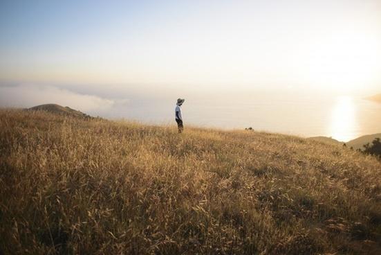 adventure daytime field fog freedom grass grassland