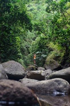 adventure daytime forest hiking landscape mountain