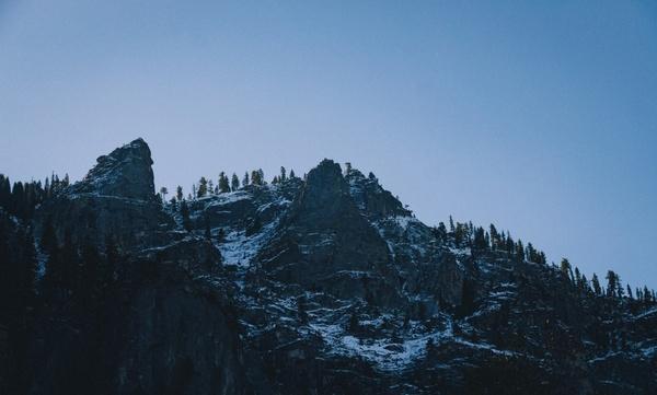 adventure fog forest landscape majestic mountain