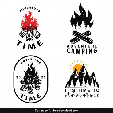 adventure logotypes retro firewood mountain sketch
