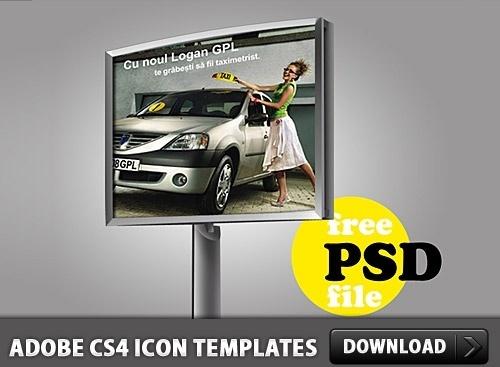 Advertising Billboard PSD