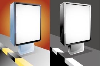 advertising light box vector