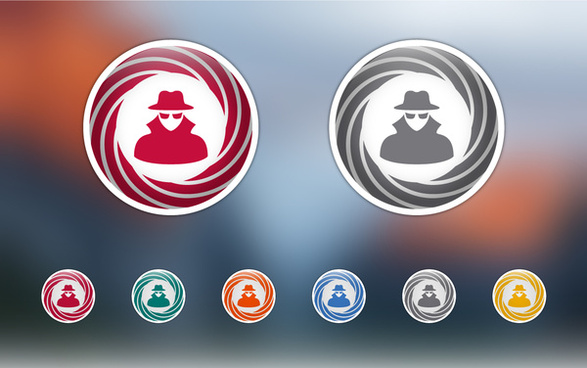 adware icons set vector free download