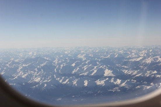 aerial aeroplane air airplane alps cloud cold down