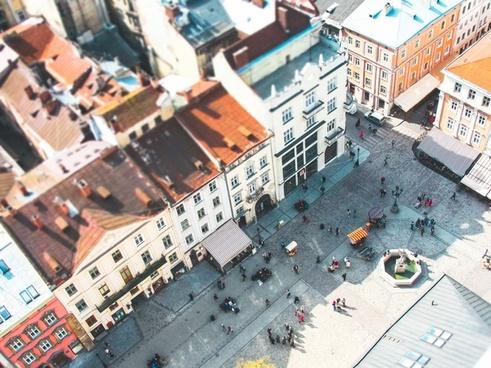 aerial apartment architecture building city cityscape