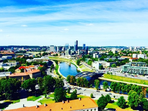 aerial architecture building city cityscape down