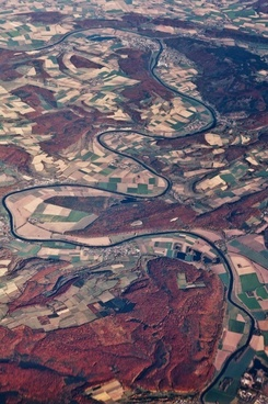 aerial of a river