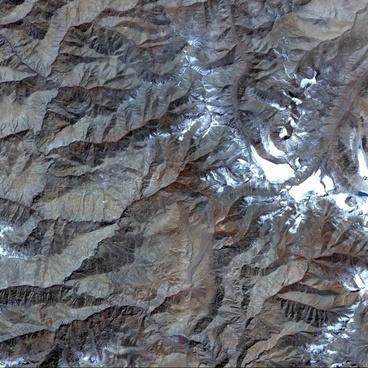 aerial view satellite photo tibet