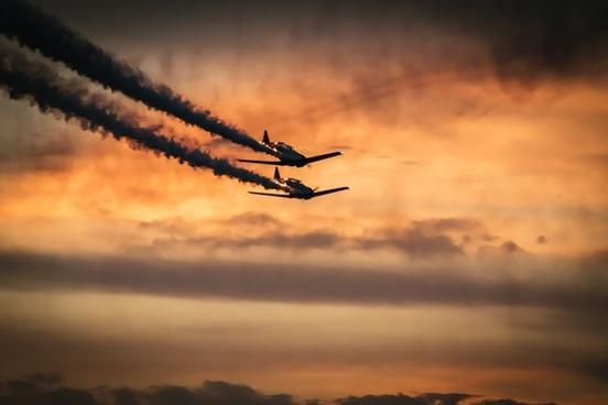 aeroplane air aircraft airplane backlit cloud dawn