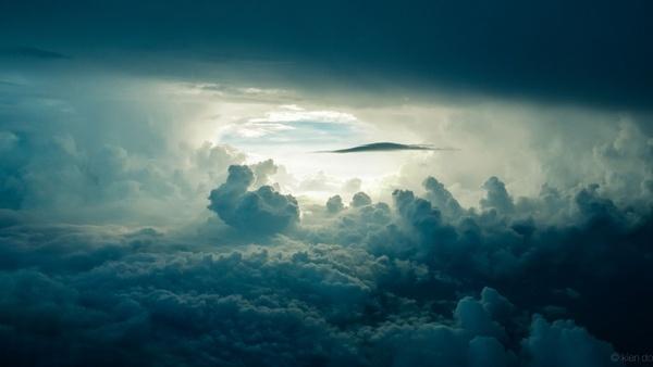 aeroplane air airplane cloud cloudy evening fog