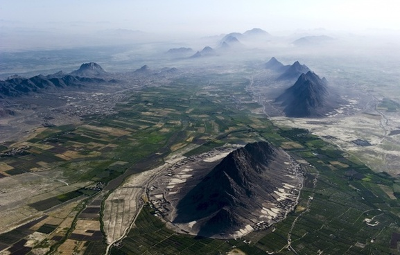 afghanistan landscape aerial view