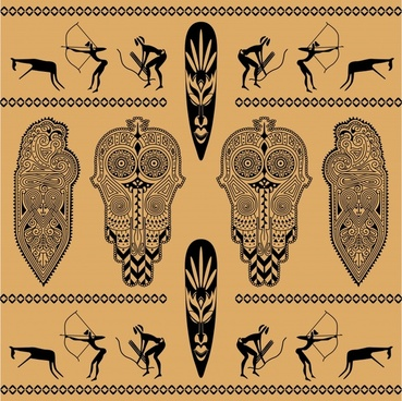 african ethnic background decoration vector