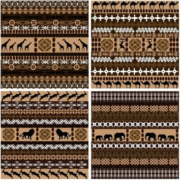 african graphic design background 01 vector