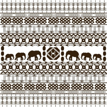 african graphic design background 02 vector