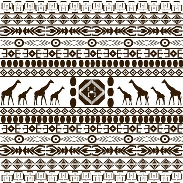 african graphic design background 03 vector