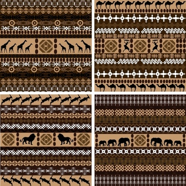 african tribal patterns repeating symmetric classical flat symbols