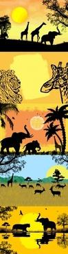 african safari vector