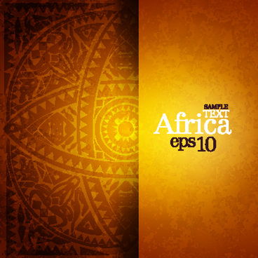 african style elements background vector set