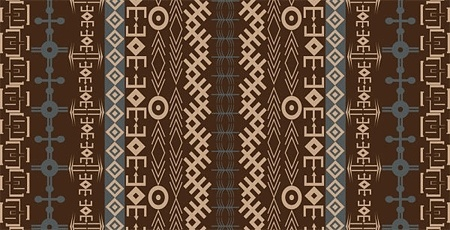 tribal abstract pattern design repeating symmetry style