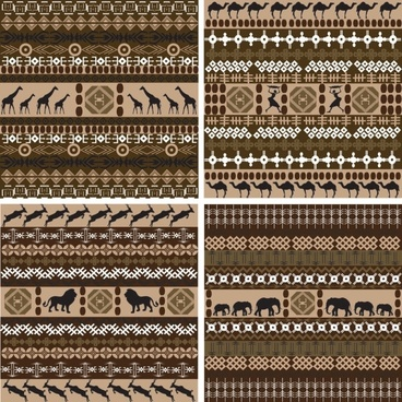 african traditional background pattern 01 vector