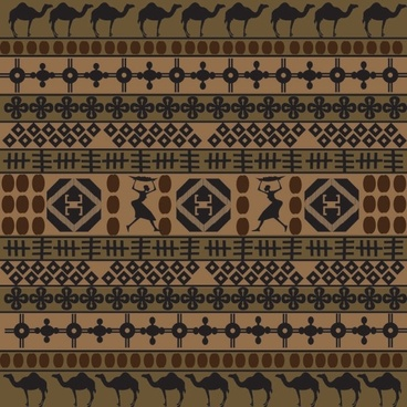 african traditional pattern background 02 vector