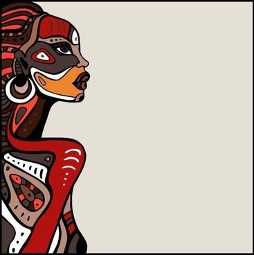 african woman design vectors