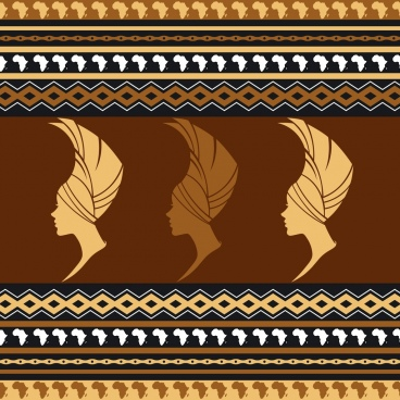 african women pattern repeating design style