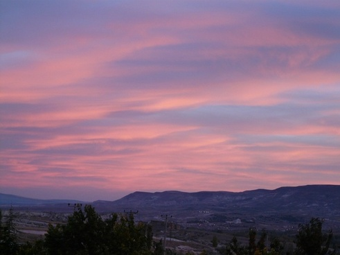 afterglow evening sunset