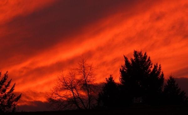 afterglow sunset evening sky