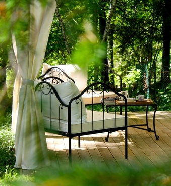 afternoon tea garden relax