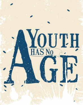 age banner grunge retro design capital texts decor