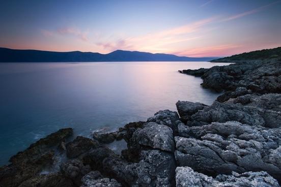 agua beach coast dawn exposure lake landscape mer