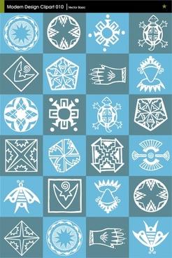 tribe pattern sets flat symbols sketch isolation