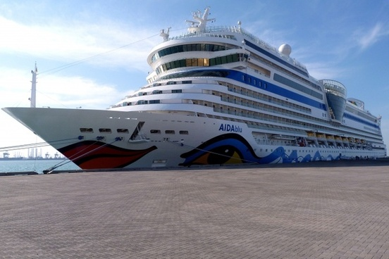 aida ship driving cruise ship
