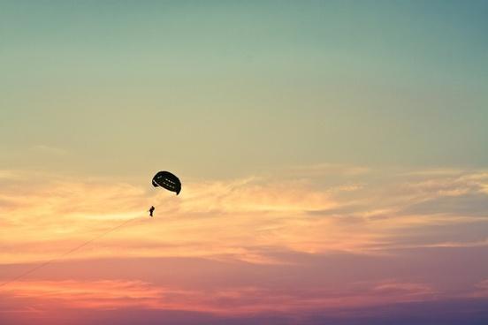 air backlit beach cloud dusk evening fly freedom