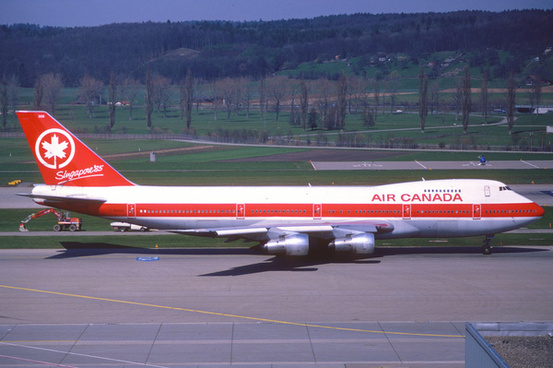 air canada boeing 747 200 c gagazrh april 1985